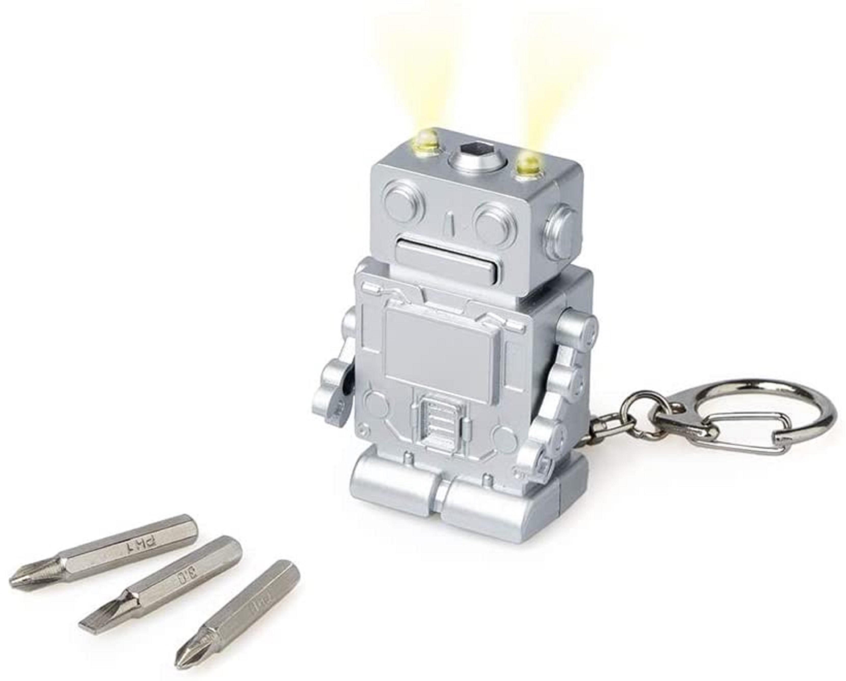 Breloc multifuncțional - Robot, Argintiu