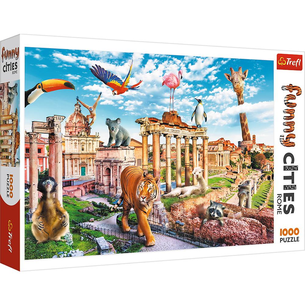 Puzzle 1000 de piese - Funny Cities: Wild Rome | Trefl