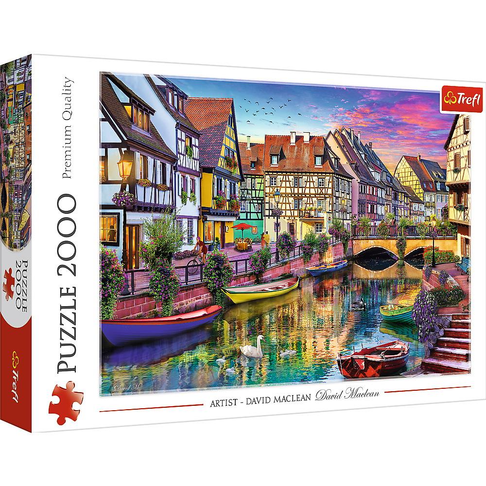Puzzle 2000 de piese - Colmar, Franta | Trefl