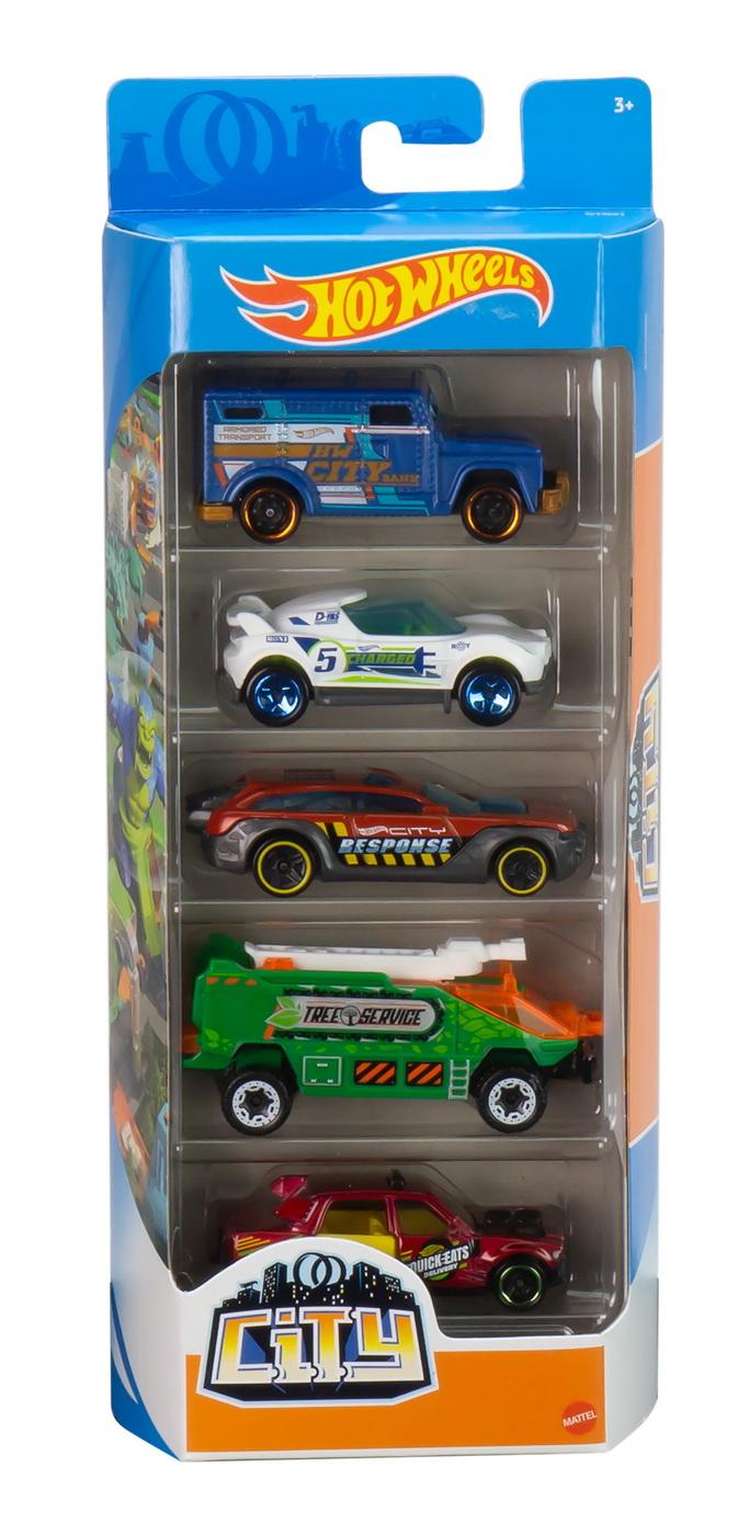 Set 5 masinute - Hot Wheels City | Mattel