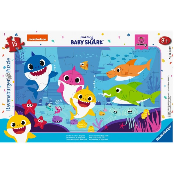 Puzzle 15 piese - Baby Shark | Ravensburger
