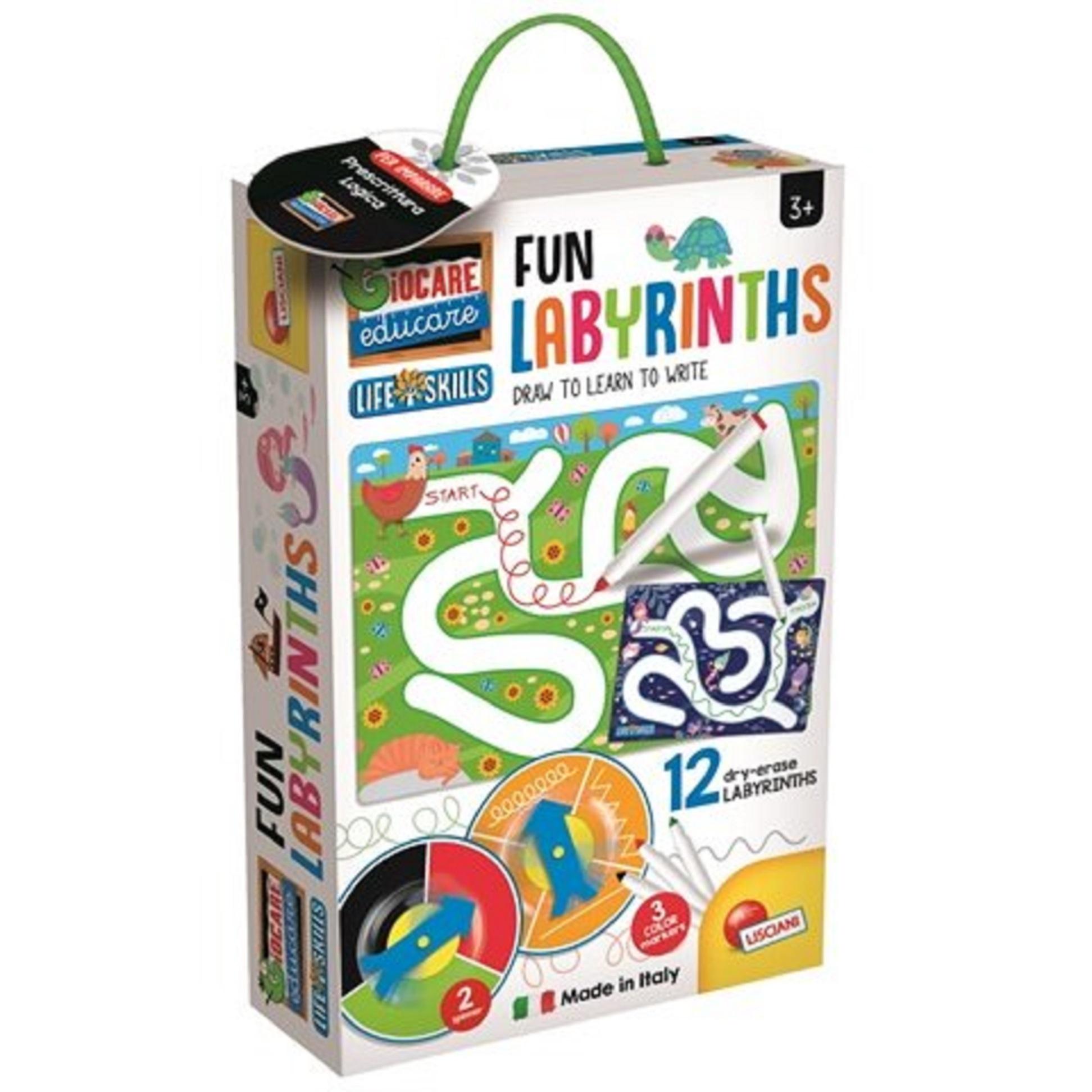 Joc educativ - Montessori - Labirinturi Amuzante   Lisciani