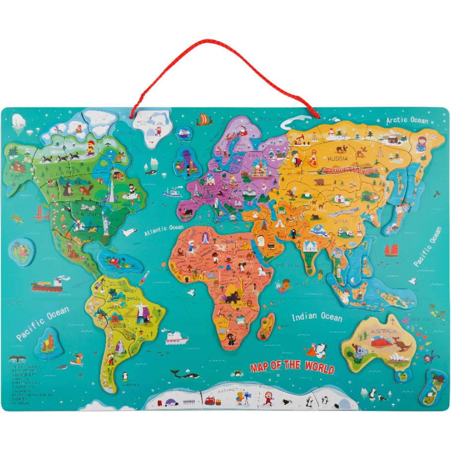 Puzzle magnetic - Harta Lumii | Topbright