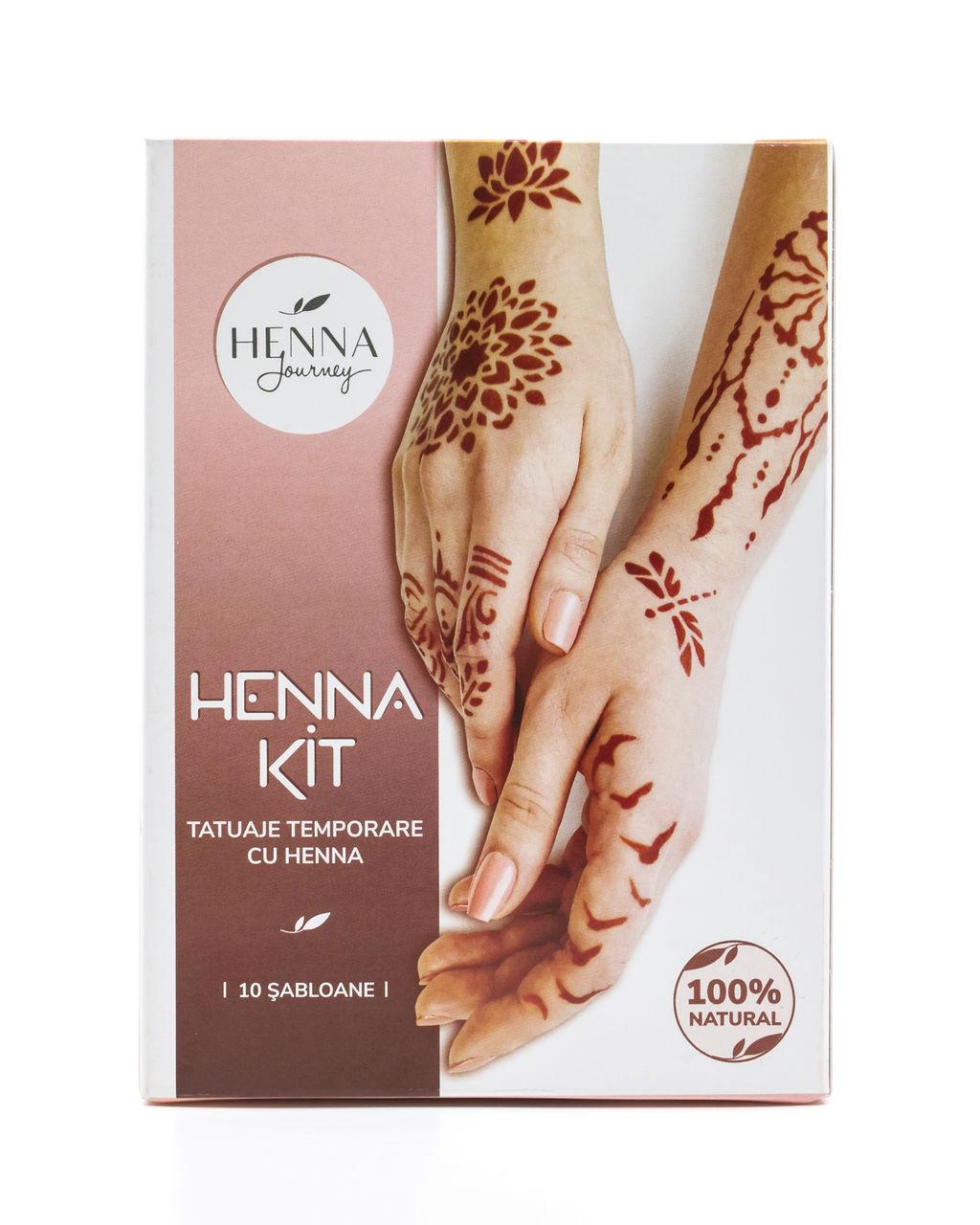 Kit DIY -  Tatuaje Temporare cu Henna si Sabloane