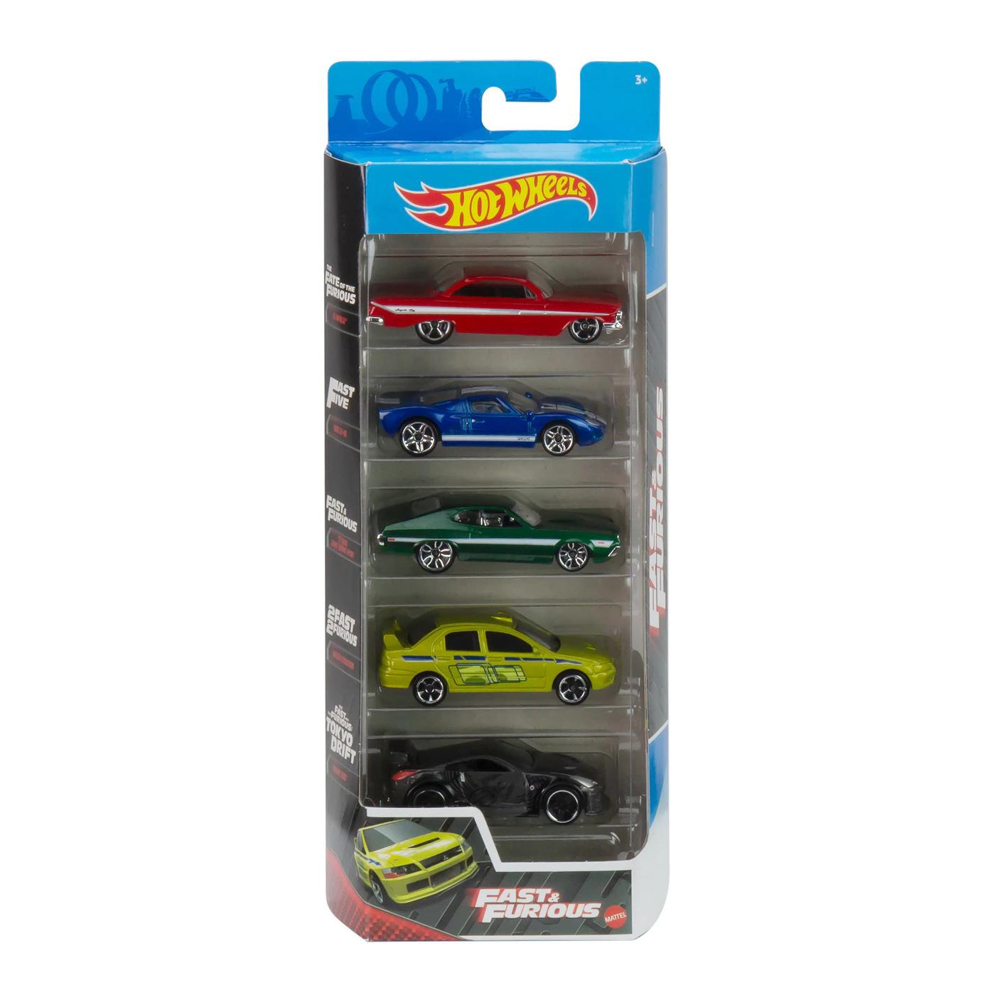 Set masinute - Hot Wheels Past & Furious, 5 bucati | Mattel