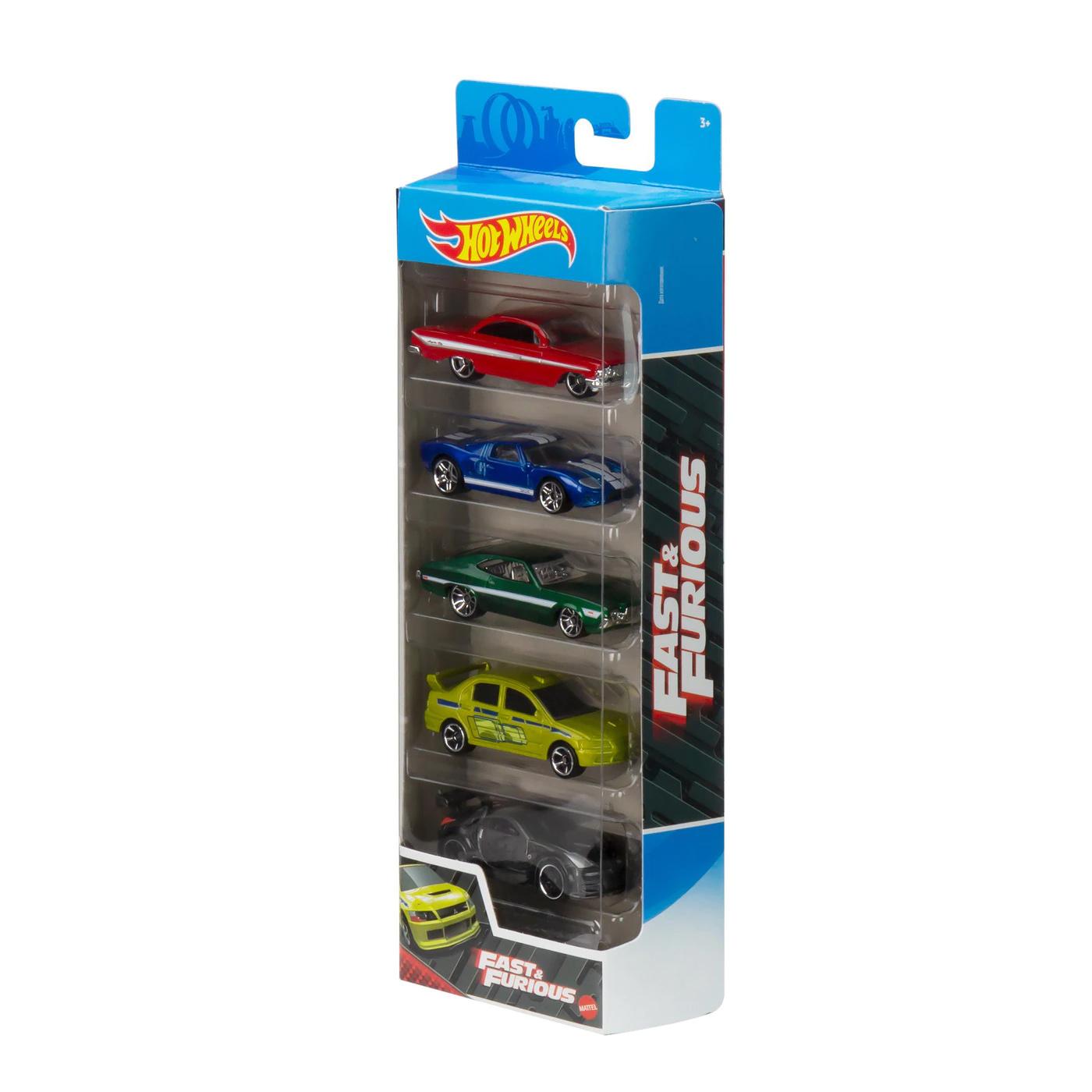 Set masinute - Hot Wheels Past & Furious, 5 bucati | Mattel - 1