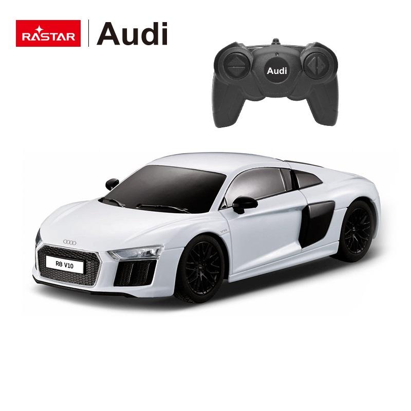 Masina cu radiocomanda - Audi R8, scara 1:24, alb | Rastar