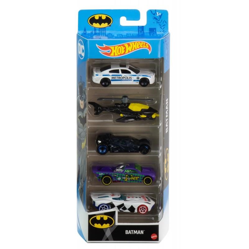 Set masini - Hot Wheels - Batman, 5 buc. | Mattel