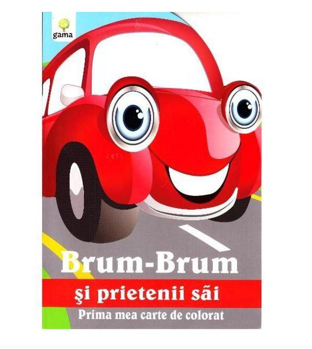 Brum-Brum si prietenii sai - Carte de colorat