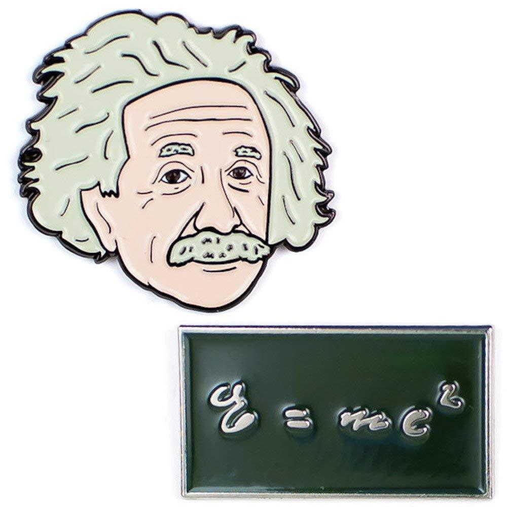Set insigne - Einstein and E=MC2 thumbnail