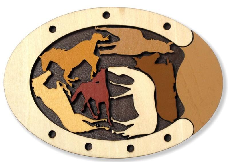 Constantin Animal Puzzle - Wild Horses | Recent Toys