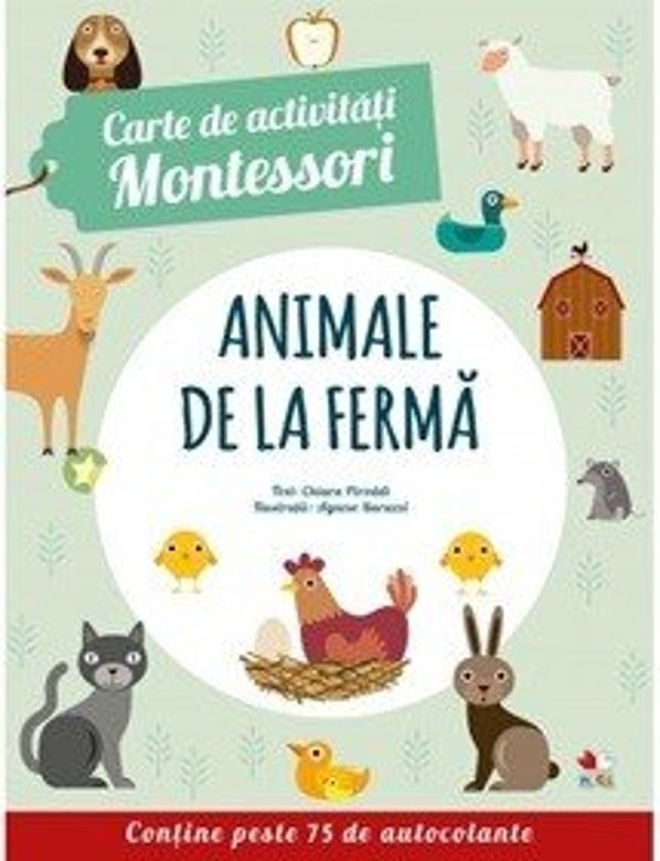 Carte de activitati Montessori. Animale de la ferma |