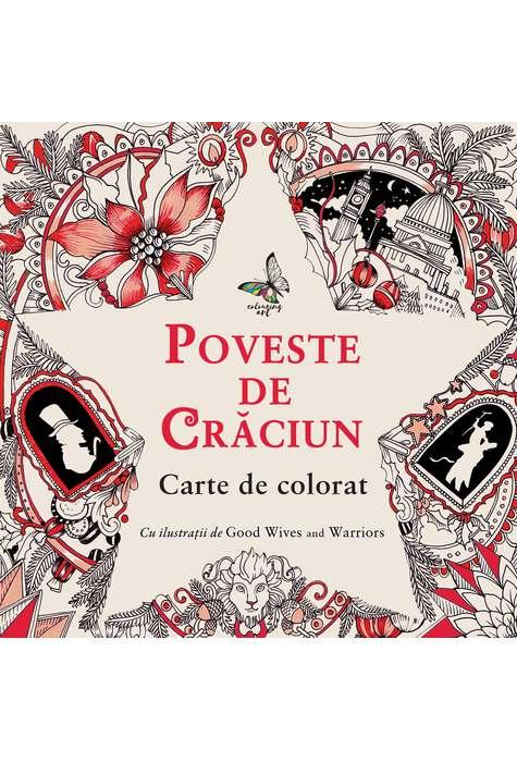 Poveste de Craciun - carte de colorat
