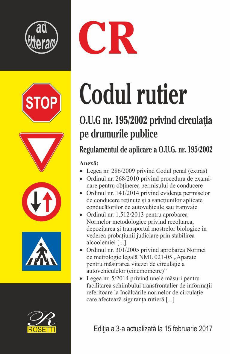 Imagine Codul Rutier - Actualizat La 15 Februarie 2017 -