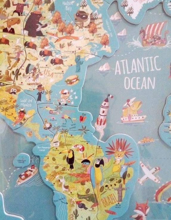 Harta lumii magnetica - Vilac | Petit Caprice