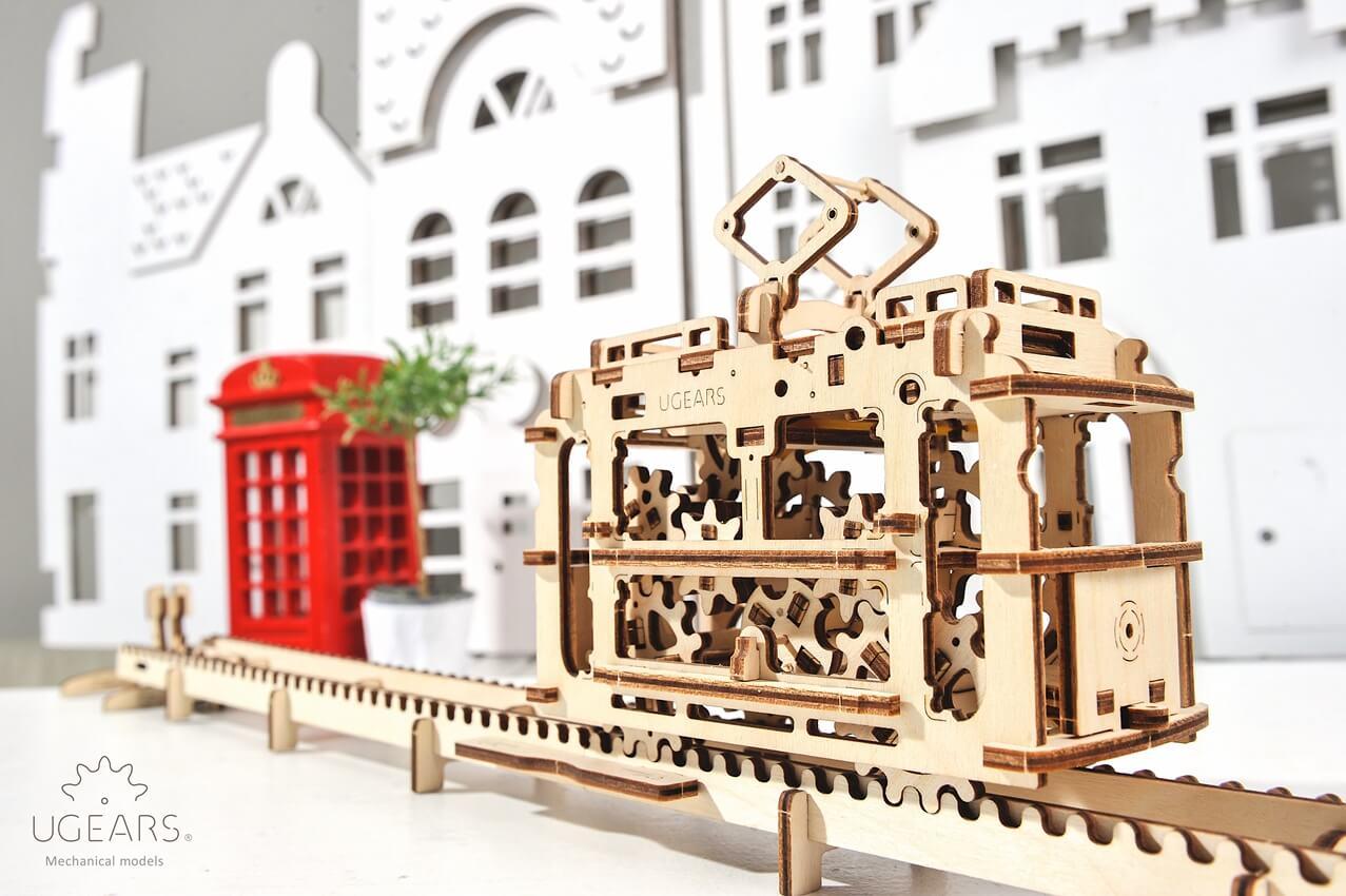 Puzzle 3D - Tramvai cu sina | Ugears