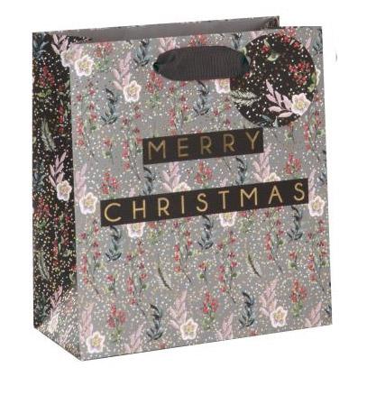 Punga cadou - Merry Christmas Floral thumbnail