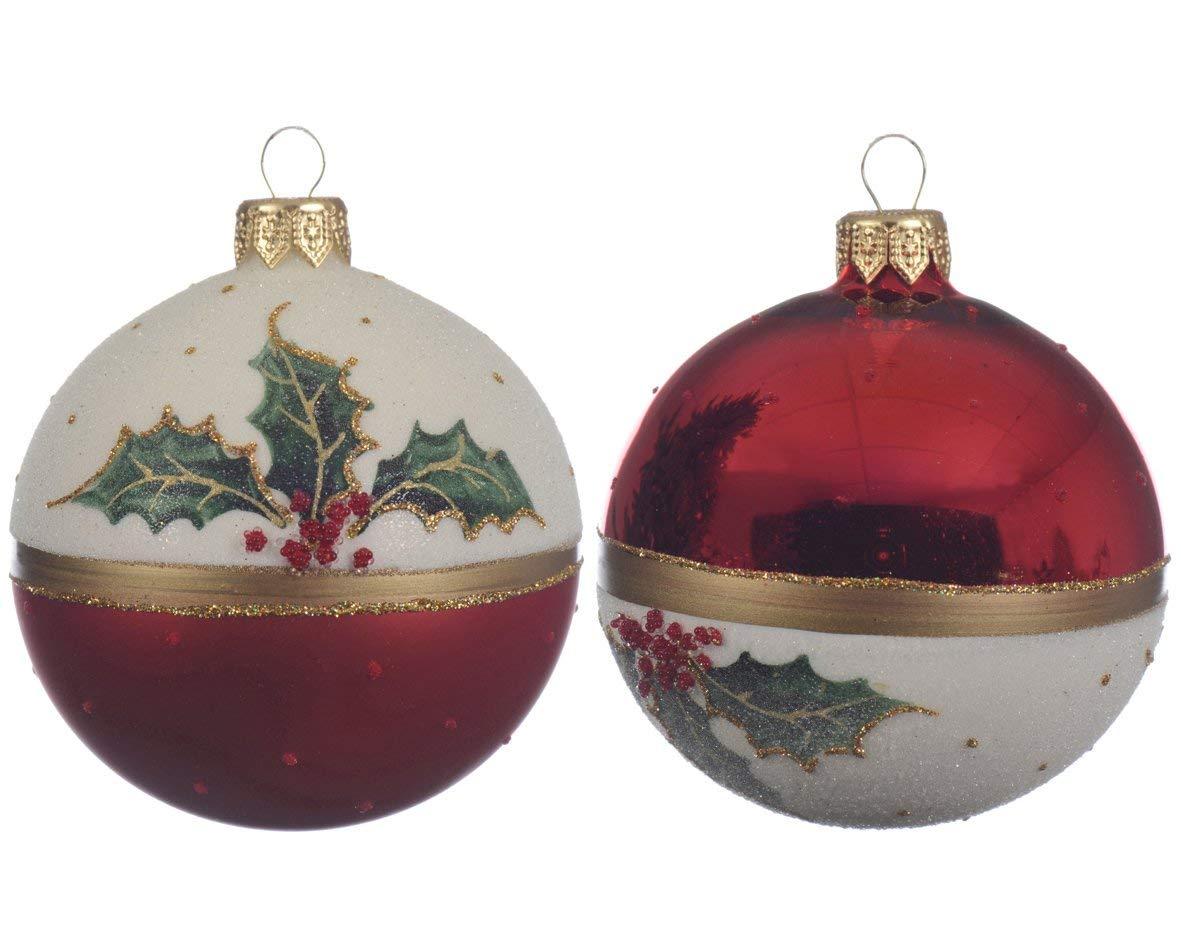 Glob decorativ - Red White Wreath - mai multe modele thumbnail