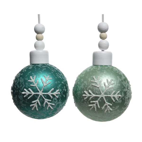 Glob decorativ - Snowflake Emerald - mai multe culori thumbnail