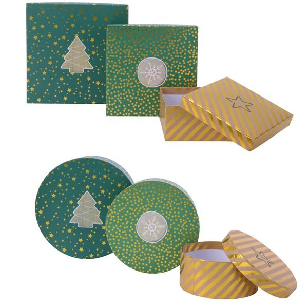 Cutie pentru cadou - Star Dot Stripe - mai multe modele thumbnail