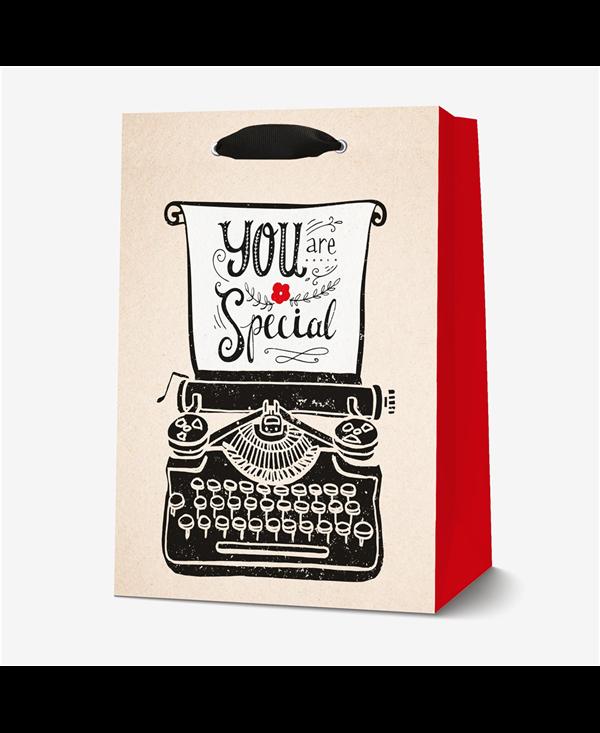 Punga pentru cadou - Typewriter - Large