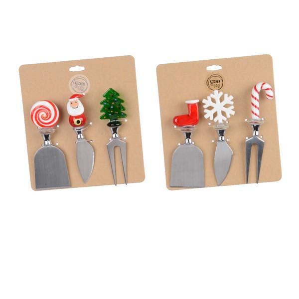 Set 3 cutie pentru cascaval - Christmas Cheese Knives - mai multe modele thumbnail