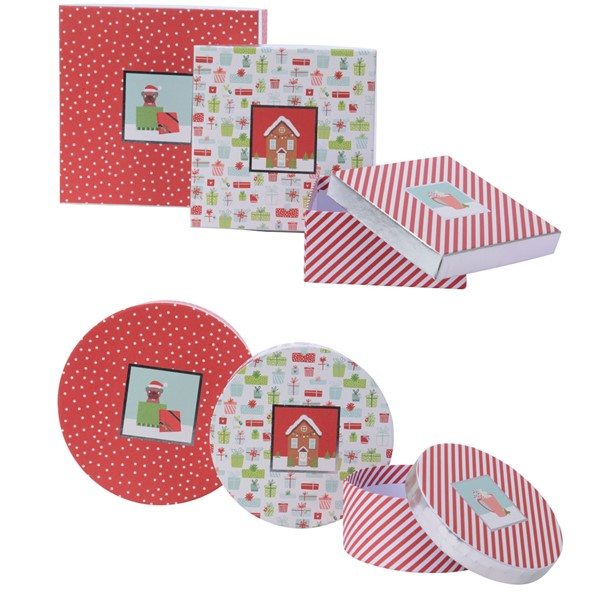 Cutie pentru cadou - Christmas Paper Gifbox - mai multe modele thumbnail