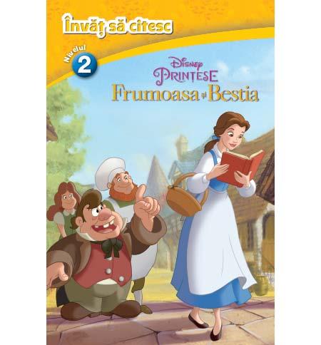 Disney printese. Frumoasa si Bestia - Învat sa citesc - nivelul 2 | Disney