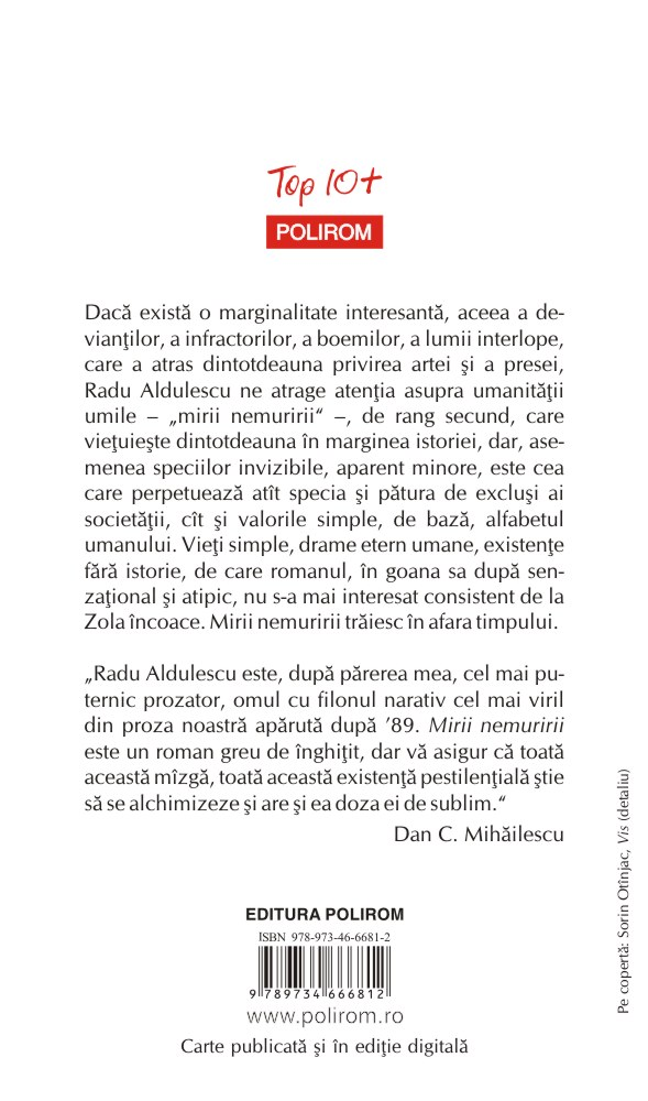 Mirii Nemuririi | Radu Aldulescu