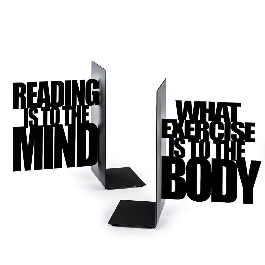 Set 2 suporturi laterale pentru carti - Exercise Your Mind bookend