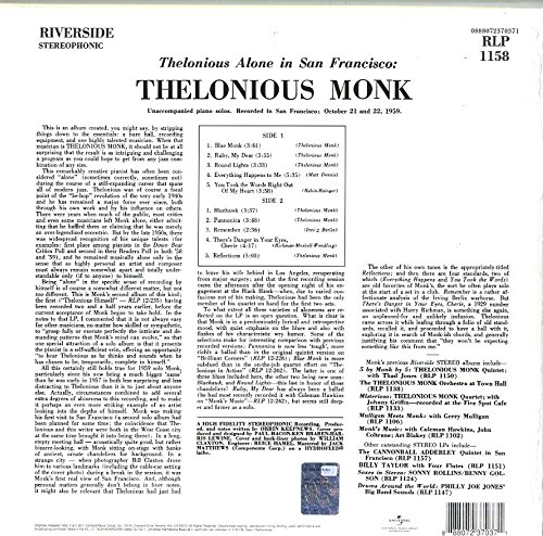 Thelonious Alone In San Francisco - Vinyl thumbnail