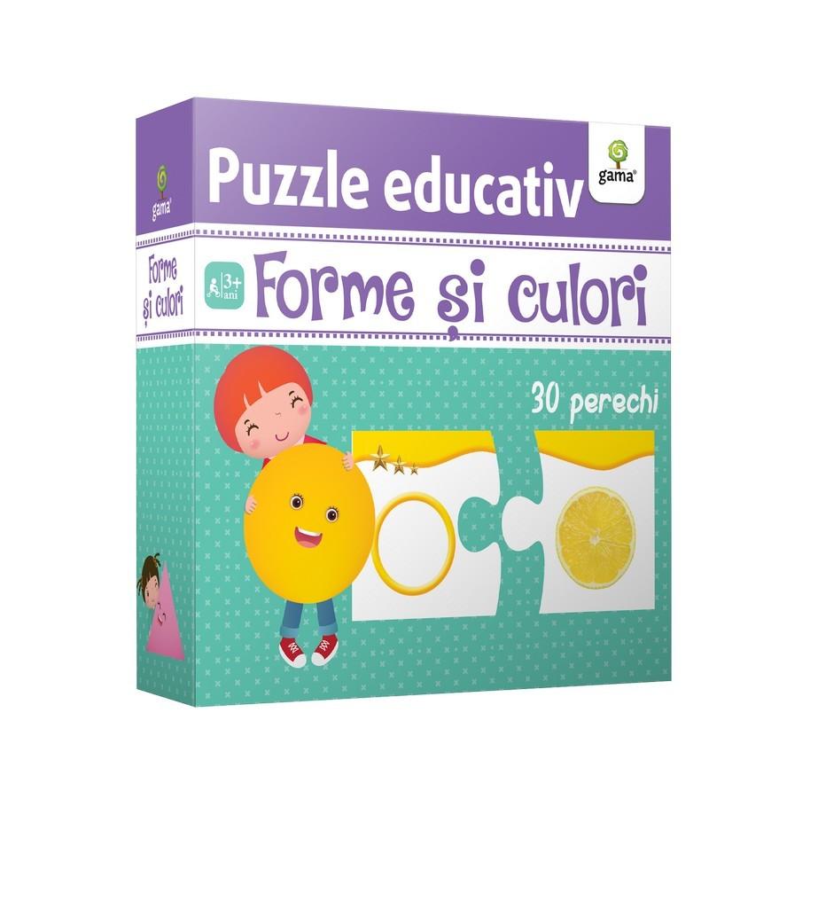Forme si culori - Puzzle educativ |