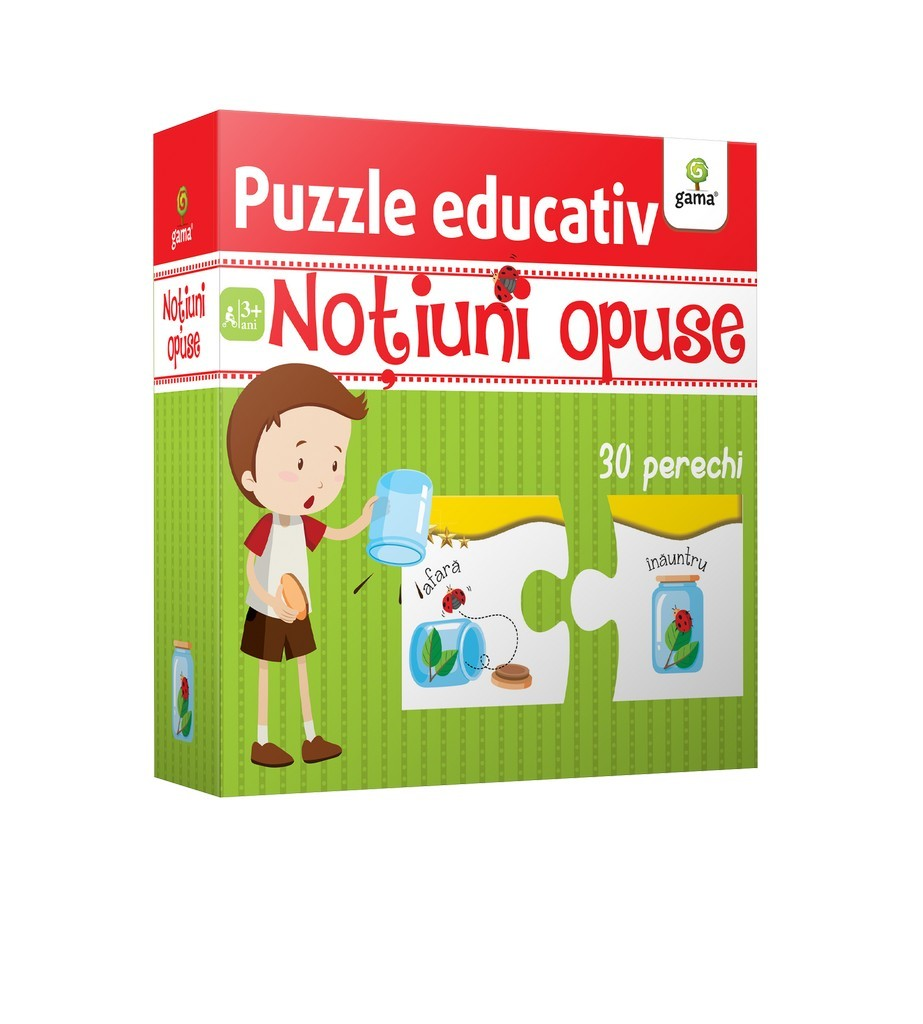 Notiuni opuse - Puzzle educativ |