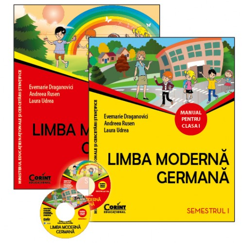 Limba moderna germana. Manual pentru clasa I (sem.I şi al II-lea) + 2 CD | Evemarie Draganovici, Andreea Rusen, Laura Udrea