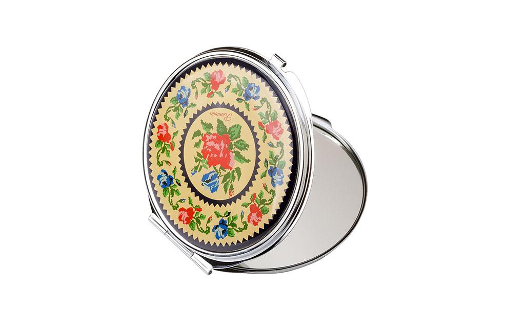 Oglinda compacta - Stergare florale