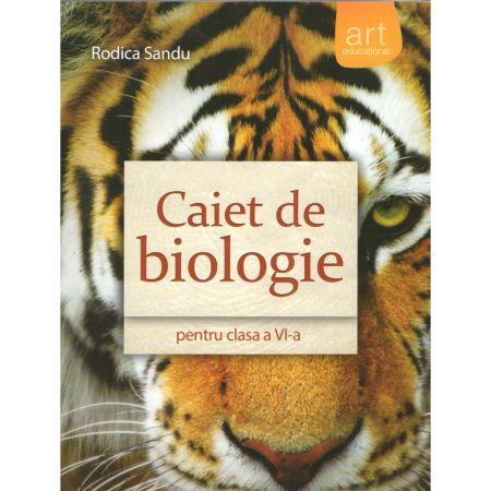 Caiet de biologie pentru clasa a VI-a | Rodica Sandu