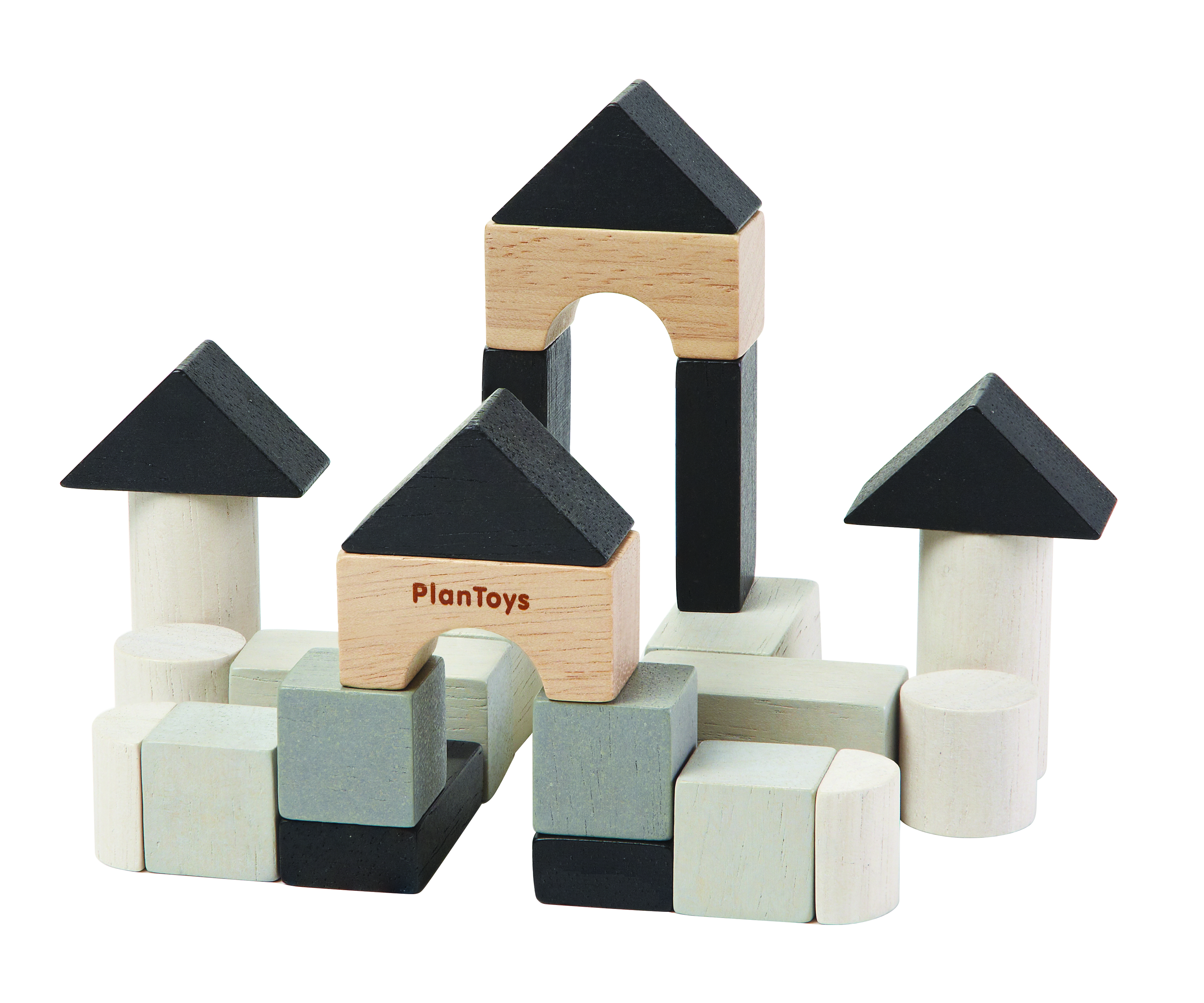 Plan Mini cu cuburi de construit | Plan Toys