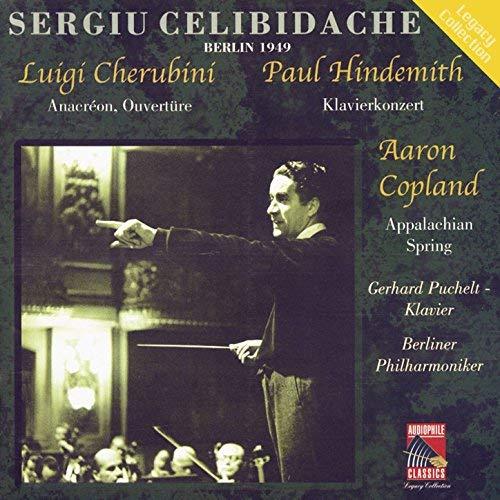 Sergiu Celibidache - Cherubini: Anacreon, Ouverture / Hindemith: Klavierkonzert / Copland: Appalachian Spring thumbnail