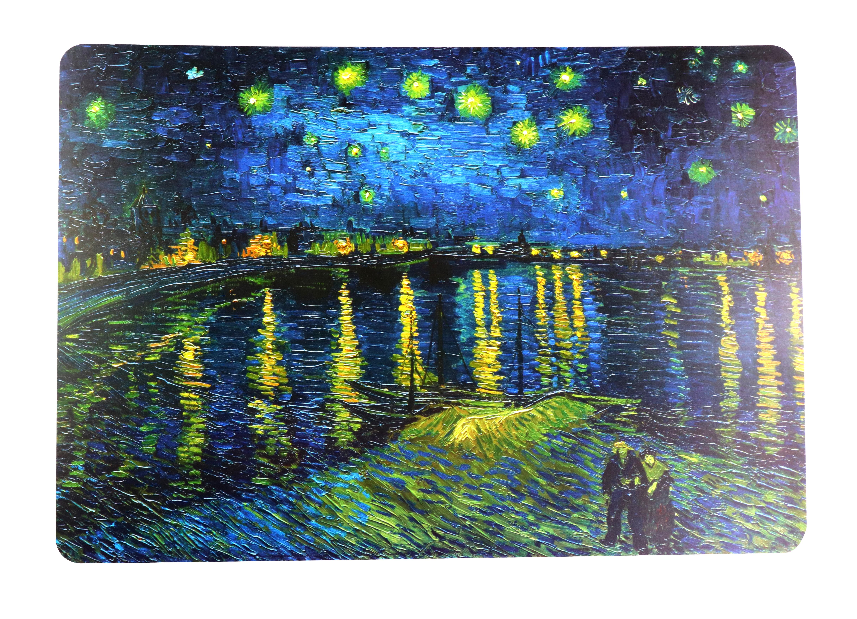 Suport farfurie - Van Gogh, Nuit etoilee sur le rhone thumbnail