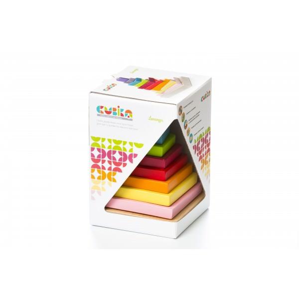 Jucarie din lemn - Cubika - Piramida Culorilor thumbnail