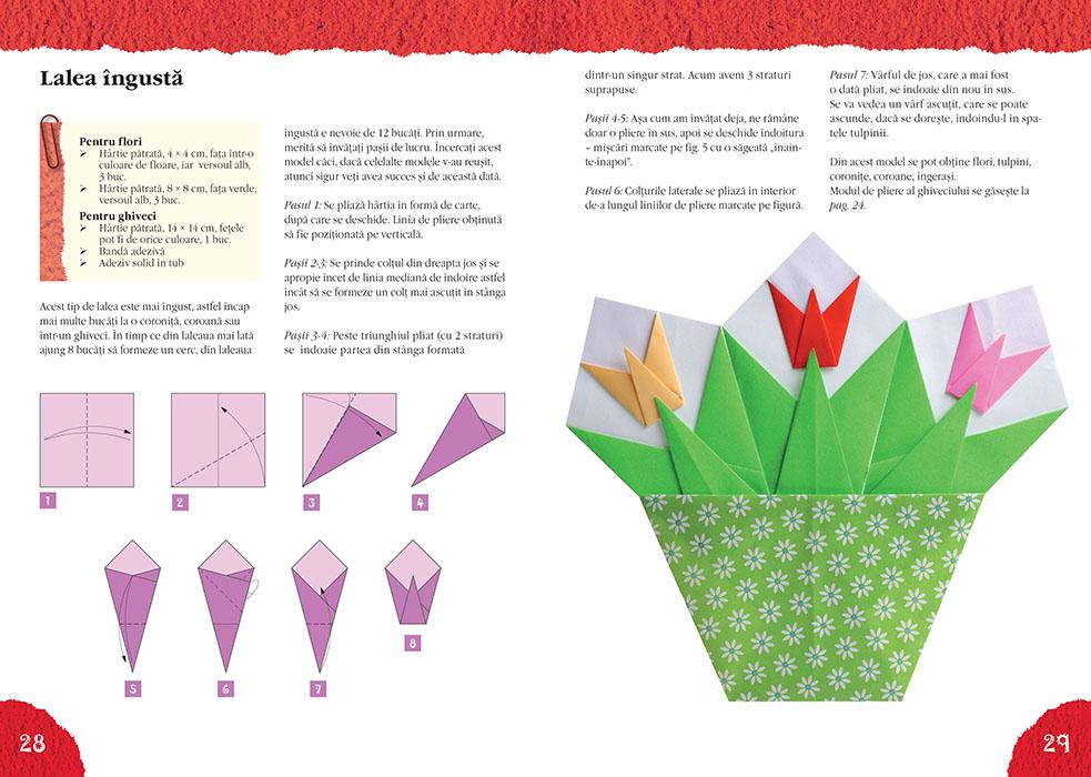 Lalele si alte flori origami - Idei creative nr. 130 thumbnail