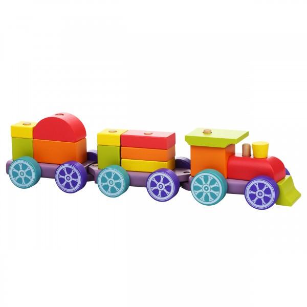Jucarie din lemn - Cubika - Tren Rainbow Express thumbnail