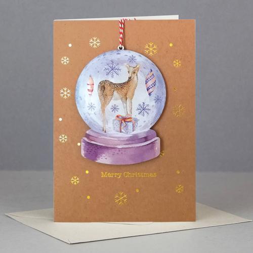 Felicitare - Wooden Keep Sake Xmas Bambi thumbnail