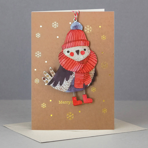 Felicitare - Wooden Keep Sake Xmas Bird thumbnail