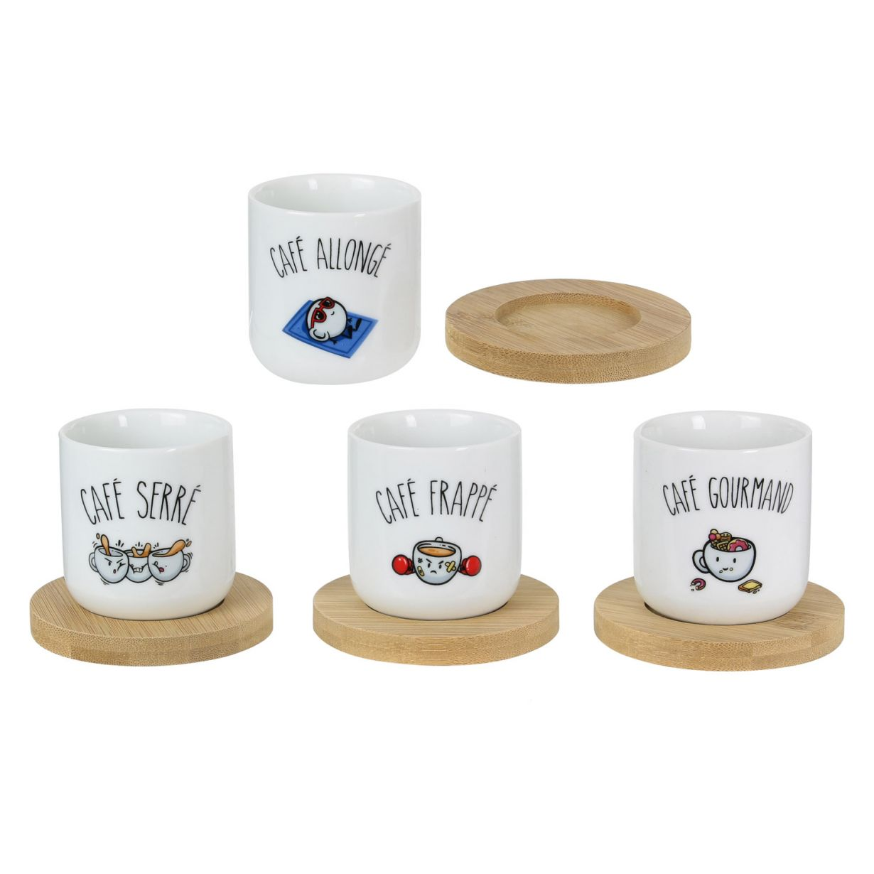 Set 4 cesti - Coffee Cups Tasses thumbnail