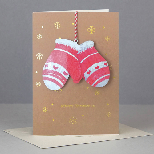 Felicitare - Wooden Keep Sake Xmas Gloves thumbnail
