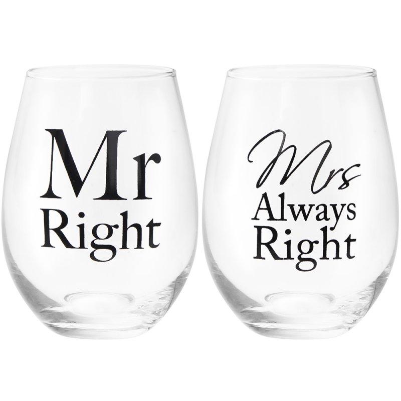 Set 2 pahare - Mr & Mrs Right, 400 ml thumbnail