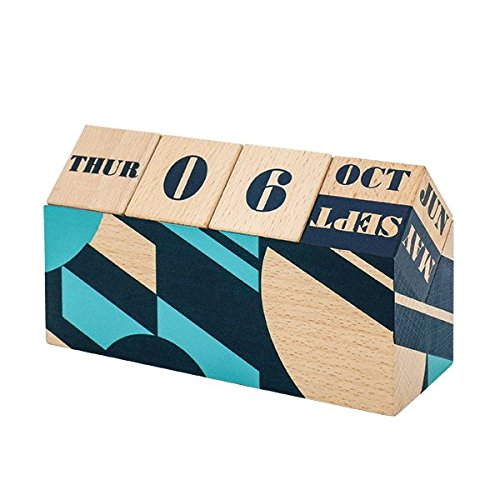 Calendar birou - Wooden Perpetual Desk Calendar thumbnail
