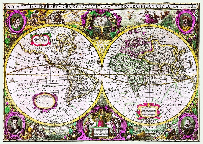 Puzzle 2000 piese - Harta Noua A Mapamondului | Trefl
