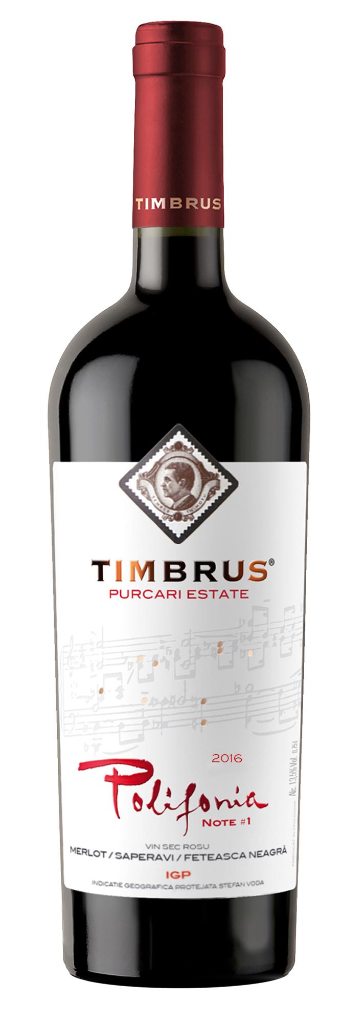 Vin rosu - Timbrus Polifonia Note 1, 2016, sec Timbrus